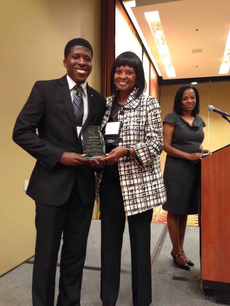Justin Malone (Spring 2013) receives NPHC undergrad of the year award in Houston, TX